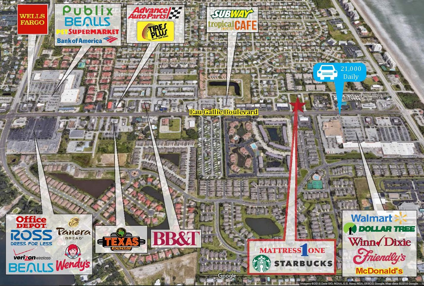 Map Of Melbourne Beach Florida.Starbucks Mattressone Wolfe Retail Group